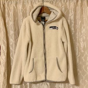 NFL Seattle Seahawks Cream Fleece Zip Up Jacket